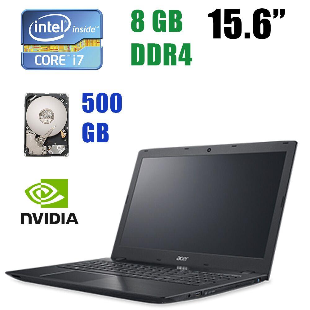 "Acer Aspire E5-575G-73AA / 15.6"" (1920x1080) / Intel Core i7-7500U (2(4) ядра по 2.70-3.50GHz) / 8GB DDR4 / 500 GB HDD / nVidia GeForce 940MX 4 GB GDDR5 64 bit"
