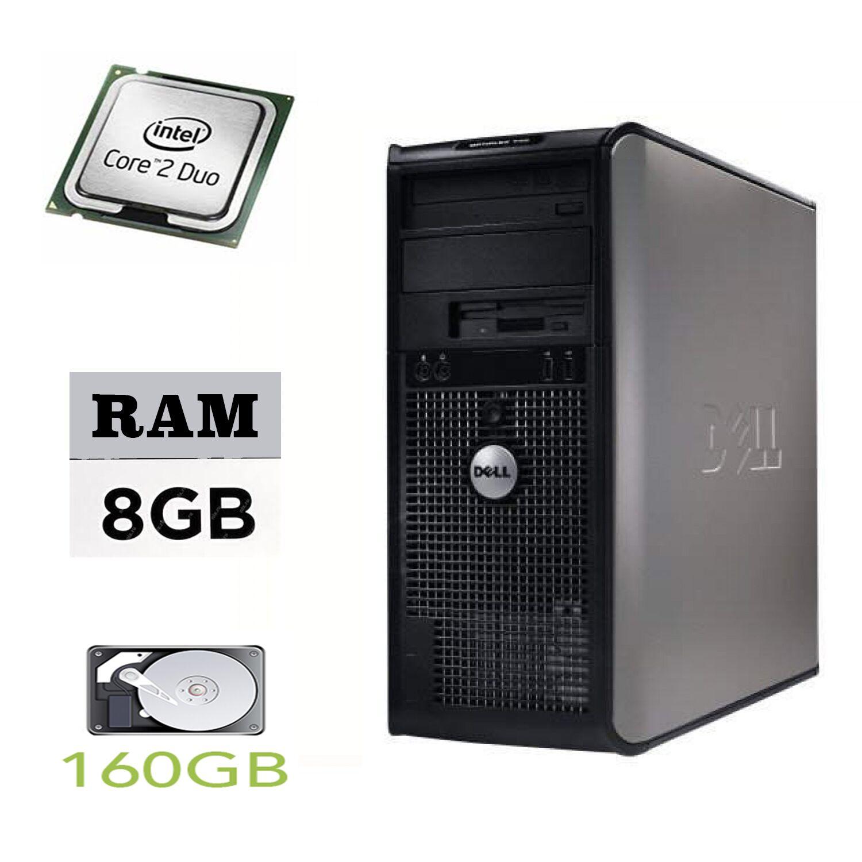DELL Optiplex 755 Tower / Intel Core 2 Duo E7500 (2 ядра по 2.9GHz) / 8GB DDR2 / 160GB HDD