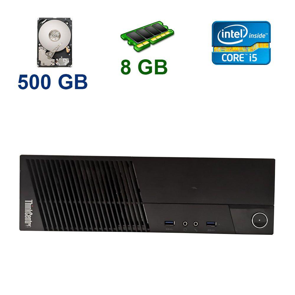 Lenovo ThinkCentre M83 DT / Intel Core i5-4570 (4 ядра по 3.2 - 3.6 GHz) / 8 GB DDR3 / 500 GB HDD