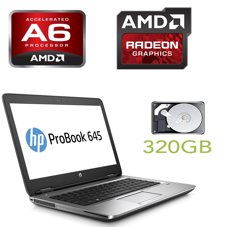 HP PROBOOK 645 G1 / 14' / AMD A6-4400M (2 ядра по 2.7-3.2GHz) / 4GB RAM / 320GB HDD / Radeon HD 7520G