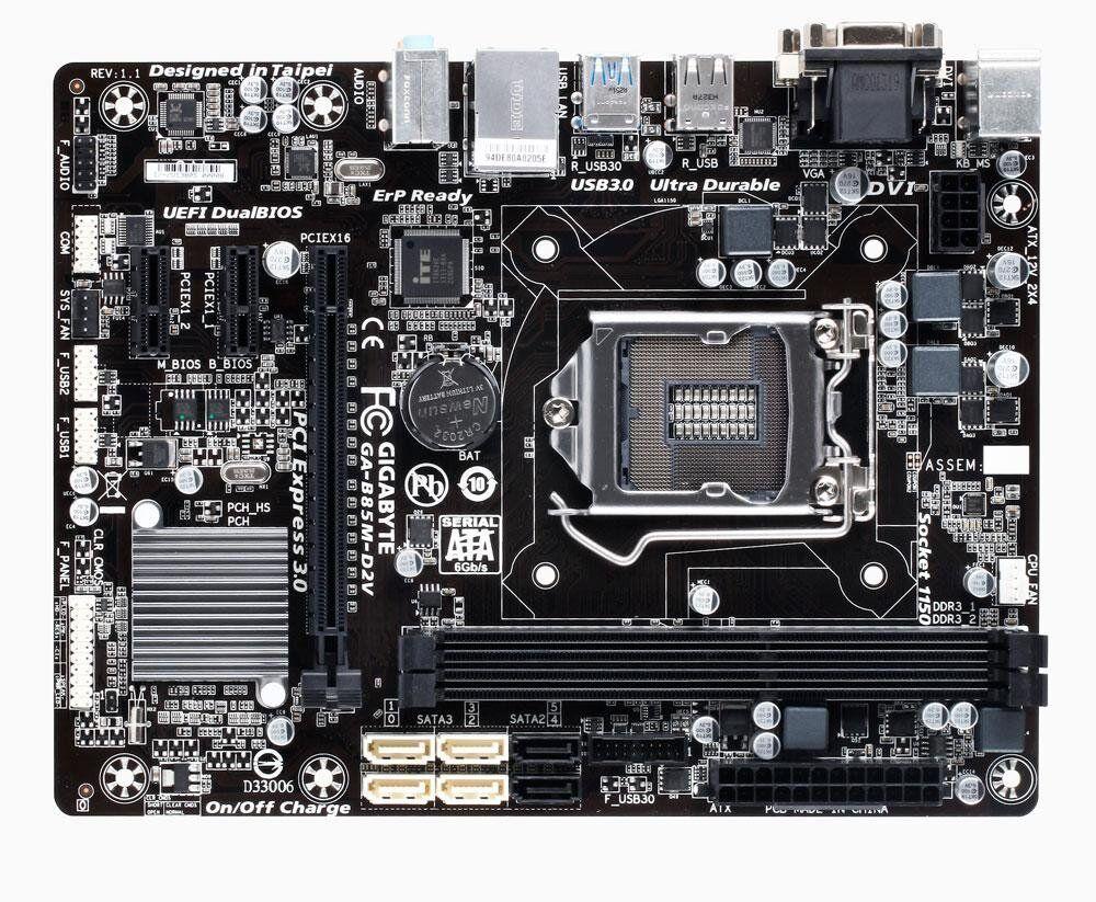 Материнская плата Gigabyte GA-B85M-D2V / socket LGA1150