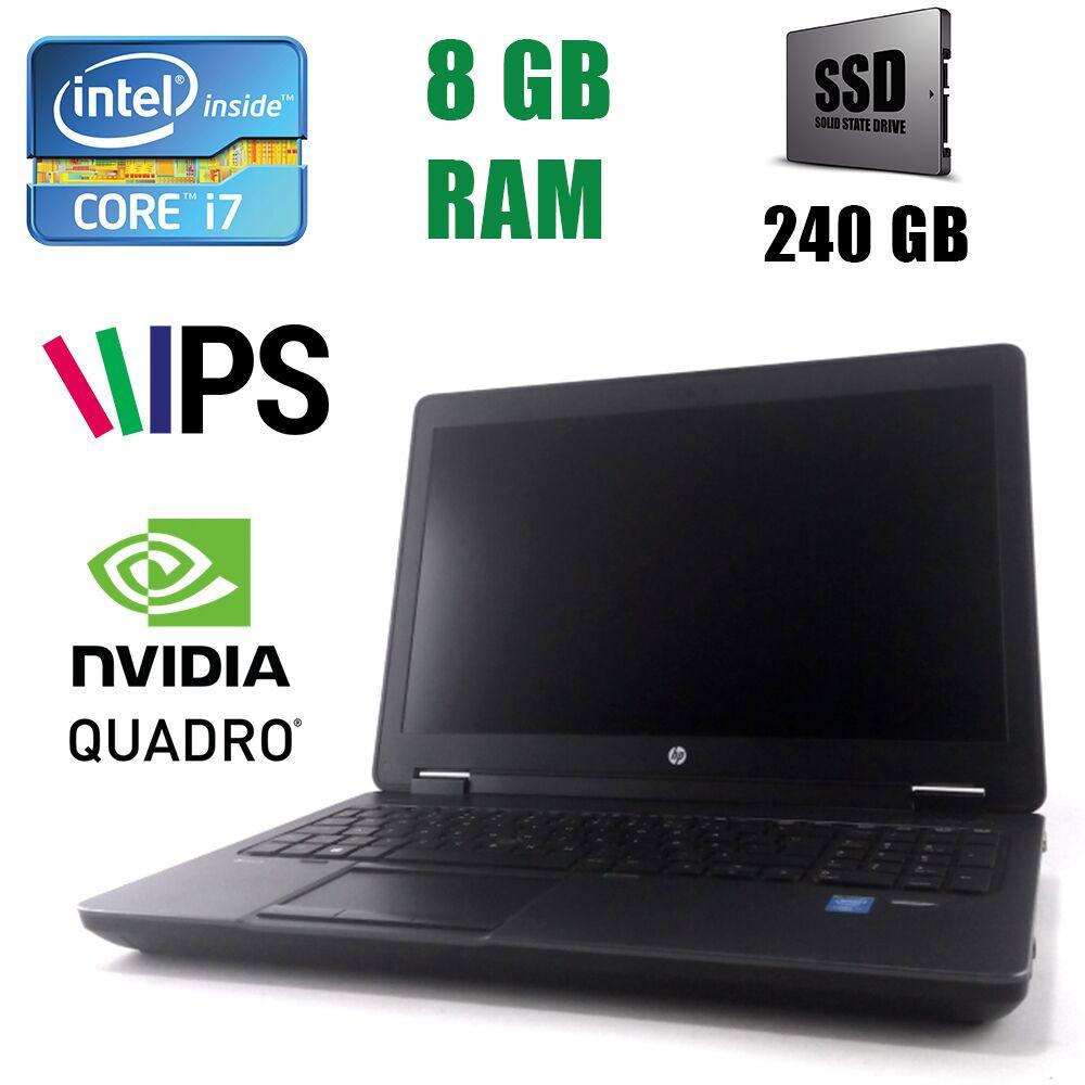 """Hewlett Packard / HP ZBook 15 Workstation / 15.6"""" (1920x1080) IPS / Intel Core i7-4700MQ (4(8)ядра по 2.40-3.40GHz) / 8 GB DDR3 / 240GB SSD / nVidia Quadro K2100M 2 GB"""