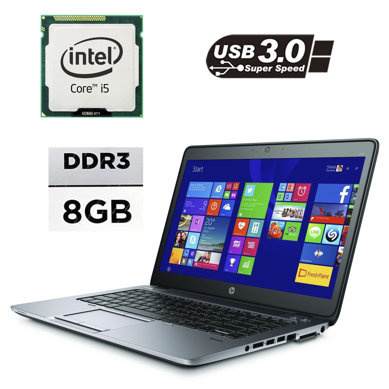 "Hewlett Packard / HP EliteBook 840 G2 / 14"" / Intel® Core™ i5-5200U (2 (4) ядра по 2.2 - 2.7GHz / 8GB DDR3 / 120GB SSD / Intel HD Graphics 5500 / VGA, DP, USB 3.0, WebCam"