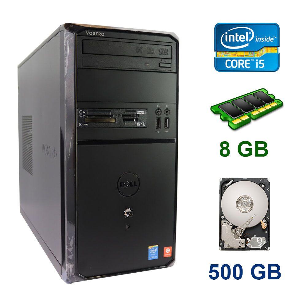 Dell Vostro Tower / Intel Core i5-4460 (4 ядра по 3.2 - 3.4 GHz) / 8 GB DDR3 / 500 GB HDD / Блок питания 300W