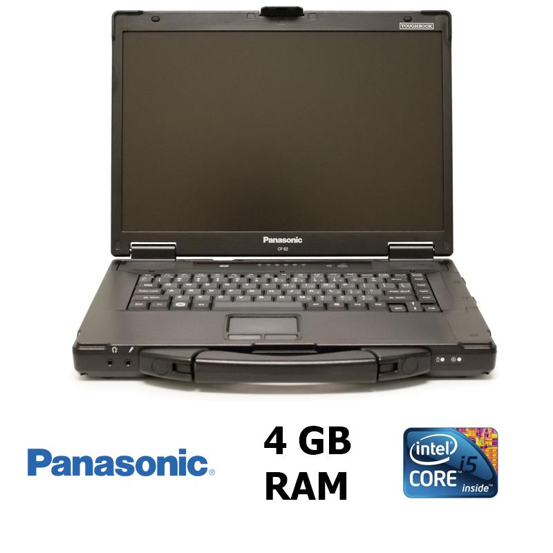 """Защищённый ноутбук Panasonic Toughbook CF-52 mk3 / 15.4"""" / Intel® Core™ i5-520M (2 (4) ядра по 2.4 - 2.93 GHz) / 4GB DDR3 / 160GB HDD"""