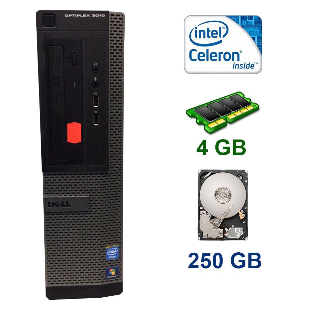 Dell 3010 DT / Intel Celeron G1610 (2 ядра по 2.6 GHz) / 4 GB DDR3 / 250 GB HDD / DVD-ROM