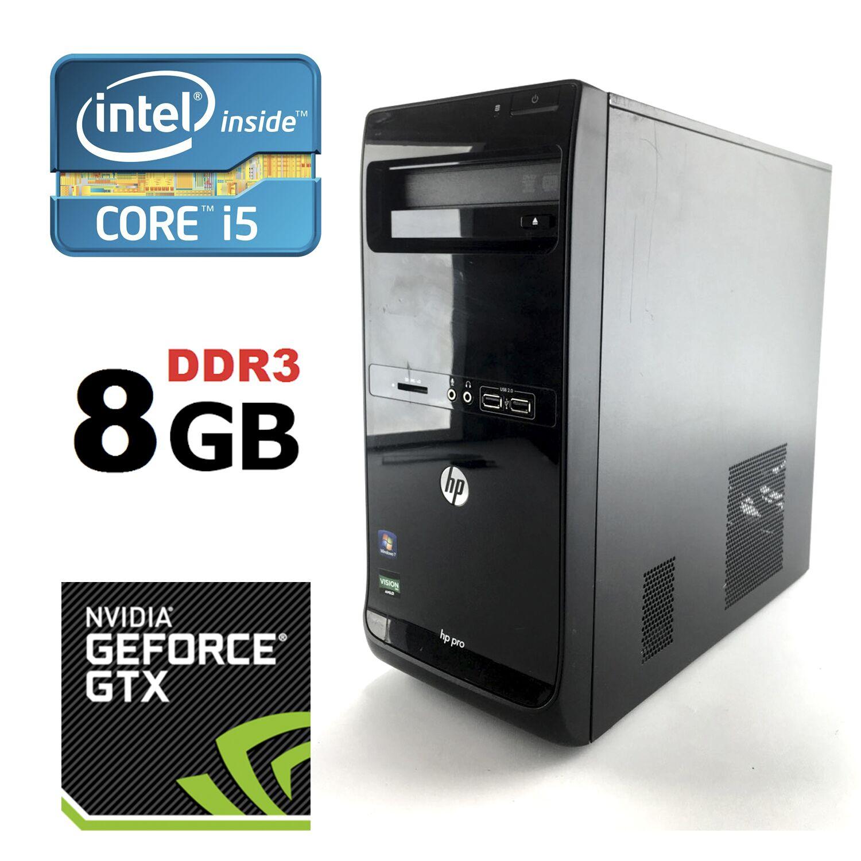 HP Pro 3500 Tower / Intel® Core™ i5-3470 (4 ядра по 3 20 - 3 60 GHz) / 8GB  DDR3 / 500 GB HDD / nVidia GeForce GTX 1050 2 GB GDDR5 128-bit