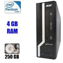 Acer Veriton X2632G SFF / Intel Pentium G3220 (2 ядра по 3.0 GHz) / 4 GB DDR3 / 250 GB HDD / VGA, DVI, USB 3.0, ComPort