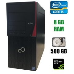 Fujitsu Esprimo P720 E85+ Tower / Intel Core i5-4570 (4 ядра по 3.2 - 3.6 GHz) / 8 GB DDR3 / 500 GB HDD / nVidia GeForce GTX 950 2 GB / DVD-RW
