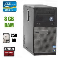 Dell Optiplex 3010 Tower / Intel Core i3-3220 (2(4) ядра по 3.30GHz) / 8 GB DDR3 / 250 GB HDD / ATI Radeon HD 6450 512 MB GDDR3 / DVD-RW