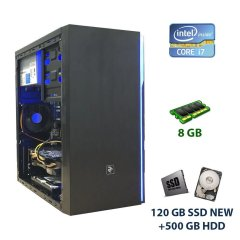 2E BASIS (RD859) RGB Tower NEW / Intel Core i7-860 (4 (8) ядра по 2.8 - 3.46 GHz) / 8 GB DDR3 / 120 GB SSD NEW+500 GB HDD / nVidia GeForce GTX 660, 3 GB GDDR5, 192-bit / 420W
