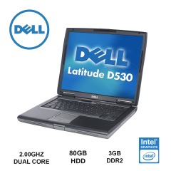 "Ноутбук Dell latitude D530 15.4"" (1280х800)/ Core2Duo T7250 (2.00GHz, 2 ядра)/ 3GB DDR2/ 80GB HDD/ Видеокарта Intel HD Graphics/ VGA, COM port"