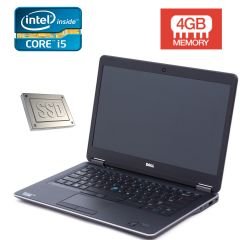 Dell Latitude E7440 / 14'' / Intel Core i5-4310U (2(4) ядра по 2.0 ГГц) / 4 GB DDR3 / 256 GB SSD / web-camera