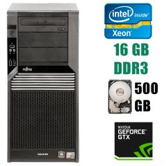 Fujitsu Celsius M470 Tower / Intel Xeon X5650 (6(12)ядер по 2.66-3.06GHz) / 16 GB DDR3 / 500 GB HDD / GeForce GTX 1060 3GB GDDR5 192bit