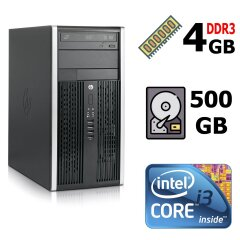 HP Compaq Pro 6300 Tower / Intel Core i3-3220 (2 (4) ядра по 3.3 GHz) / 4 GB DDR3 / 500 GB HDD