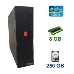 Lenovo ThinkCentre M83 DT / Intel Core i3-4150 (2 (4) ядра по 3.5 GHz) / 8 GB DDR3 / 250 GB HDD