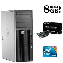 Сервер HP Z400 Tower / Intel® Xeon® W3503 (2 ядра по 2,4 GHz) / 8GB DDR3/ 500 GB HDD / NVIDIA Quadro FX ‎380