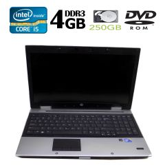 HP Elitebook 8540P / 15.6' / Intel Core i5-520M (2(4) ядра, 2.4GHz) / 4GB DDR3 / 250GB HDD / nVidia NVS 5100m / DVD-RW
