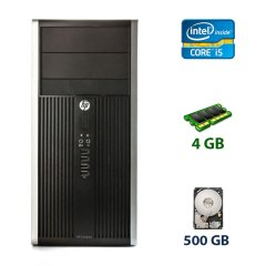 HP Compaq Pro 6300 Tower / Intel Core i5-3470 (4 ядра по 3.2 - 3.6 GHz) / 4 GB DDR3 / 500 GB HDD