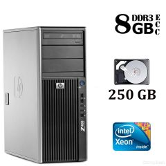 HP Z400 Tower / Intel® Xeon® W3520 (4 (8) ядра по 2.66 - 2.93 GHz) / 8 GB DDR3 / 250 GB HDD
