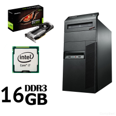 Lenovo M82 Tower/ Intel Core i7-3770 (3.40-3.90GHz, 4 ядра, 8 потоків, 8mb Cache)/ 16GB DDR3/ 500GB HDD / Новий SSD 120GB / Новий БП 600W Chieftec/ Відеокарта GF GTX 1070 8Gb DDR5 256bit (HDMI,DVI,DP)