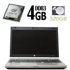 HP Elitebook 8560P / 15.6' / Intel Core i5-2520M ( 2(4) ядра по 2.5GHz) / 4GB RAM / 320GB HDD / Intel HD Graphics 3000 / Web-camera