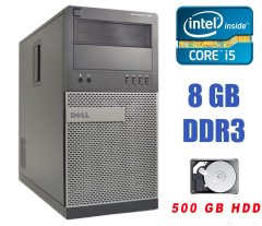 Dell Optiplex 790 MT / Intel Core i5-2400 (4 ядра по 3.1-3.4 GHz) / 8 GB DDR3 / 500 GB HDD