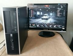HP 8000 Ellite SFF / Intel C2Q Q9550 (4 ядра по 2.88GHZ) / 6GB DDR3 / 320GB HDD / Radeon HD 7570 1GB GDDR5 128bit / DWD-RW + монитор / 22' / 1680x1050