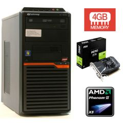 GATEWAY DT55 / AMD Phenom II X3 B75 (3 ядра по 3.0GHz) / 250GB HDD / 4 GB DDR3 / НОВАЯ Видеокарта GeForce GT 1030 2Gb DDR5 (HDMI,DVI) 12 мес. гарантии