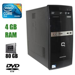 HP Compaq 500B MT / Intel Core 2 Duo E7500 (2 ядра по 2,93GHz) / 4 GB DDR3 / 80 GB SSD / DVD-RW, Card-reader / Windows 10