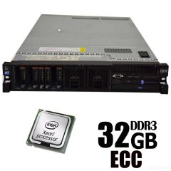 Сервер IBM X3650-M2 / 2xIntel Xeon E5504 / 32 GB DDR3 ECC  / no HDD