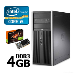 HP 8100 Tower / Intel Core i5-750 (2,66-3.20GHz, 4 ядра, 4 потока, 8mb Cache)/ HDD 250GB/ 4GB DDR3/ Nvidia GeForce GT1030 2GB DDR4