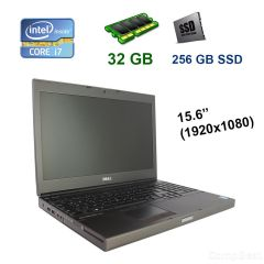"Dell Precision M4800 / 15.6"" (1920х1080) IPS LED / Intel Core i7-4810MQ (4 (8) ядра по 2.8 - 3.8 GHz) / 32 GB DDR3 / 256 GB SSD / nVidia Quadro K2100M, 2 GB GDDR5, 128-bit / WebCam / USB 3.0"
