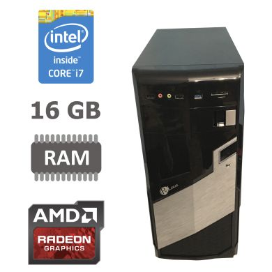 MSI Tower / Intel® Core™ i7-2600 (4 (8) ядра по 3.40 - 3.80 GHz) / 16 GB DDR3 / new 120 GB SSD + 500 GB HDD / Radeon RX580 8GB GDDR5 256bit / БП 650 W