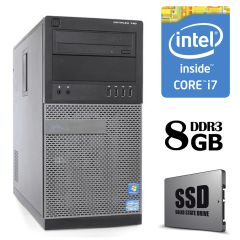Dell Optiplex 790 Tower / Intel® Core™ i7-2600 (4 (8) ядра по 3.40 - 3.80 GHz) / 8 GB DDR3 / 120 GB SSD