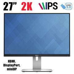 "DELL U2715H / 27"" (2560x1440) 2K IPS / HDMI, DisplayPort, miniDP"