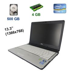 "Fujitsu LifeBook S761 / 13.3"" (1366x768) WXGA LED / Intel Core i7-2640M (2 (4) ядра по 2.8 - 3.5 GHz) / 4 GB DDR3 / 500 GB HDD / WebCam / USB 3.0"