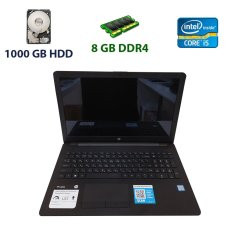 "HP 15-BS0XX / 15"" (1366x768) SVA eDP WLED сенсорний / Intel Core i5-7200U (2 (4) ядра по 2.5 - 3.1 GHz) / 8 GB DDR4 / 1000 GB HDD / WebCam / USB 3.1 / HDMI"