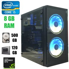 2E BASIS (RD858) RGB / Intel Core i5-3470 (4 ядра по 3.2 - 3.6 GHz) / 8 GB DDR3 / 120 GB SSD+500 GB HDD / GeForce GTX 950 2GB DDR5 / БП SeaSonic Wortmann AG 420WT Bronze