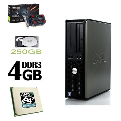 DELL 580 DT / Athlon II X2 240 (2 ядра по 2.8 GHz) / 4 GB DDR3 / 250 GB HDD / новая GeForce GT 730 1 GB (HDMI, DVI, VGA)
