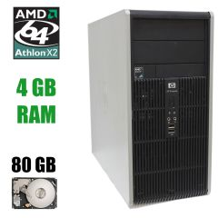 HP dc5850 Tower / AMD Athlon X2 4450B (2 ядра по 2.3GHz) / 4 GB DDR2 / 80 GB HDD
