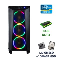 Frontier Raider Tower / Intel Core i3-9100F (4 ядра по 3.6 - 4.2 GHz) / 8 GB DDR4 / 120 GB SSD+1000 GB HDD / nVidia GeForce GTX 1660, 6 GB GDDR5, 192-bit / 500W