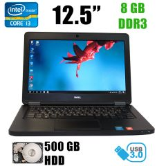 "Dell Latitude E5250 / 12.5"" TFT/ Intel Core i3-5010U (2(4)ядра по 2.1GHz) / 8GB DDR3 / 500GB HDD / USB 3.0, HDMI, DP"
