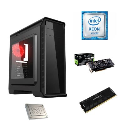 GameMax Pardo / Intel Xeon x3440 (4(8) ядер по 2.53-2.93GHz) / 12GB DDR4 / 500GB HDD+SSD на 64GB / GeForce GTX 1060 6GB GDDR5