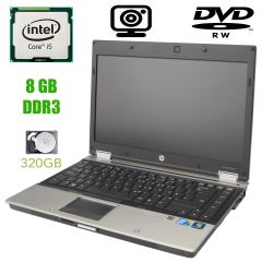 HP EliteBook 8440p / 14'' / 1600x900 / Intel Core i5-540M (2 (4) ядра по 2.53GHz) / 8 GB DDR3 / 320 GB HDD / DVD-RW / web-cam