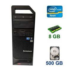 Lenovo ThinkStation S20 Tower / Intel Xeon E5506 (4 ядра по 2.13 GHz) / 8 GB DDR3 / 500 GB HDD / nVidia Quadro FX 1700, 512 MB DDR2, 128-bit / DVD-ROM