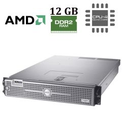 DELL PowerEdge 2970 2U / 2 процессора AMD Opteron 2378 (4 ядра по 2.4 GHz) / 12 GB DDR2 / No HDD