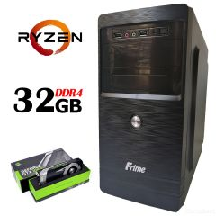 FRIME ATX / AMD Ryzen™ 5 1600Х (6 (12) ядер по 3.60 - 4.0 GHz) / 32 GB DDR4 / 240 GB SSD NEW + 1000 GB HDD / БП 500W / GeForce GTX 1060 (6Gb GDDR5 192bit)