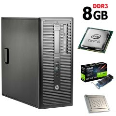 HP 600 G1 Tower / Intel Core i5-4570 (4 ядра по 3.2GHz) / 8GB DDR3 / NEW 120GB SSD + 500GB HDD / nVidia GeForce GT 1030 2GB GDDR5