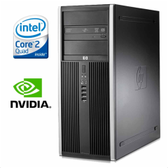 HP Compaq 8000 Elite MT / Intel® Core™2 Quad Q8200 (4 ядра по 2,33 GHz) / 4 GB DDR 3 / 250 Gb  + Видеокарта GeForce GTX550 Ti 1 GB DDR5 192 bit